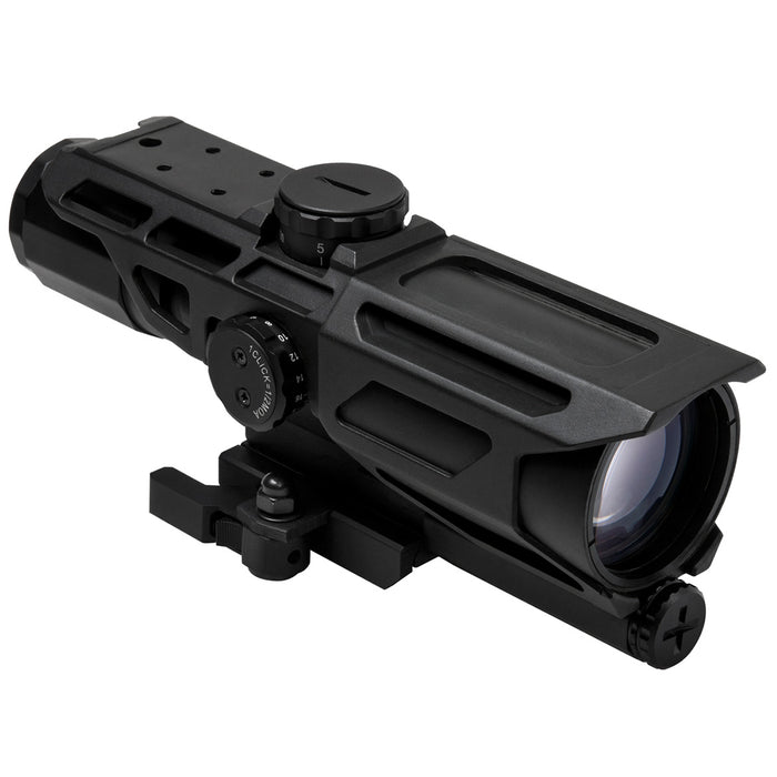 NcStar VSTM3940GV3 3-9x40mm Mil-Dot Reticle MARK III Tactical Scope, Black
