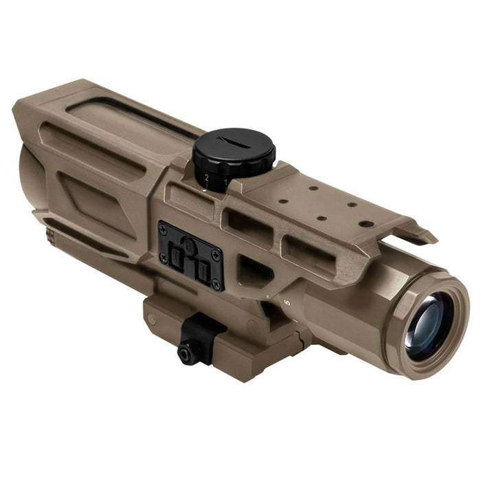 NcStar VSTM3940GV3T 3-9x40mm Mil-Dot Reticle MARK III Tactical Scope, Tan