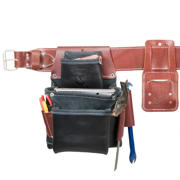 Occidental Leather B5080DBSM Black Pro Framer Framing Tool Bag Set - Small