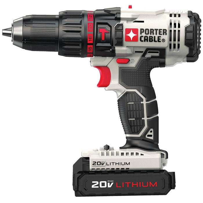 Porter Cable PCC621LB 20-Volt 1/2-Inch 2-Speed Lithium-Ion Cordless Hammer drill