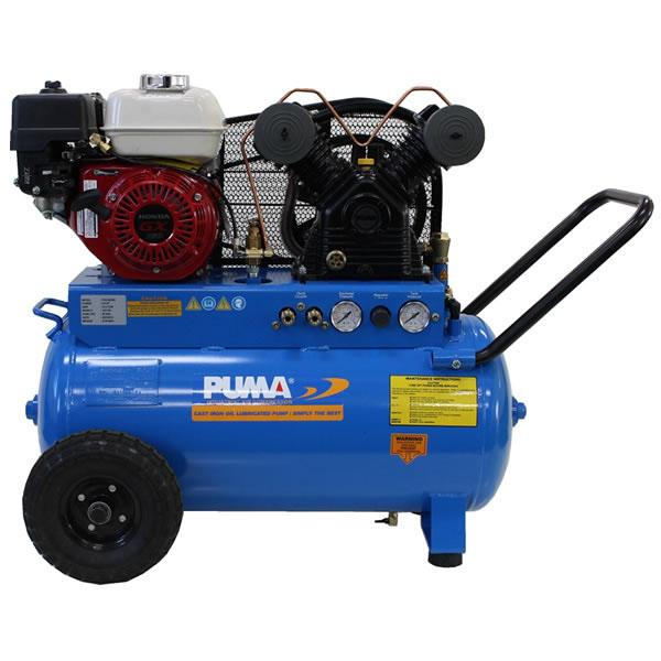 Puma PUN-5520G 5.5-HP 20-Gallon 135-Psi Gas-Powered Belt Drive Air Compressor