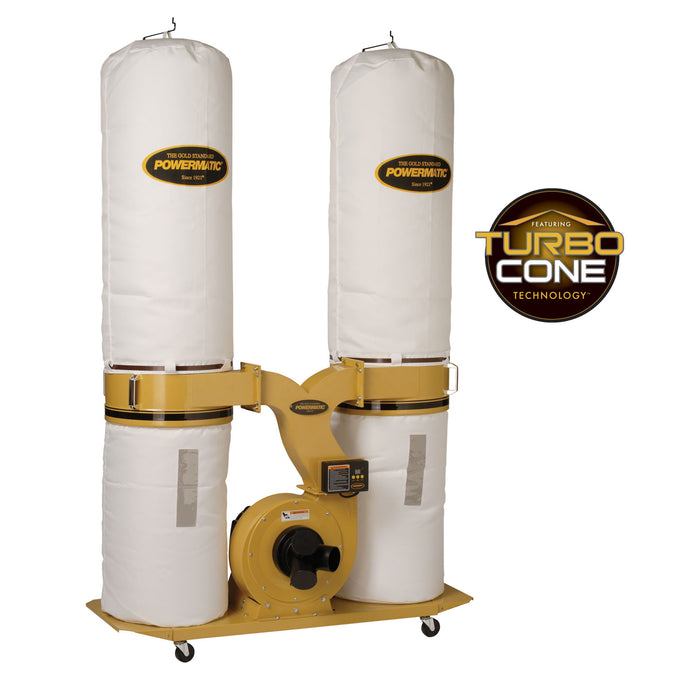 Powermatic PM1900TX-BK1 3-Hp 230V Dust Collector w/ Bag Filter Kit