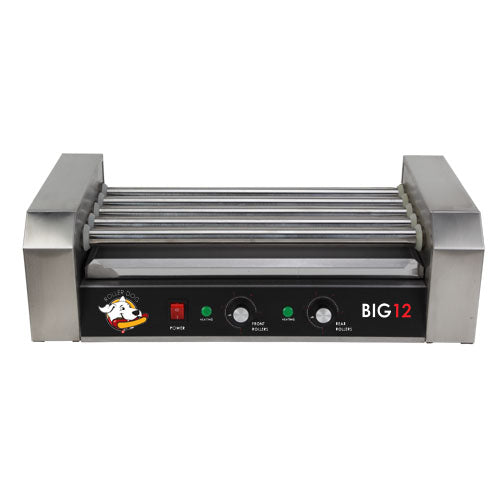 Roller Dog RDB12SS Commercial 12 Hot Dog 5 Roller Grill Cooker Machine