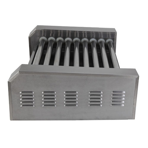 Roller Dog Commercial 24 Hot Dog 9 Roller Grill Cooker Machine - RDB24SS