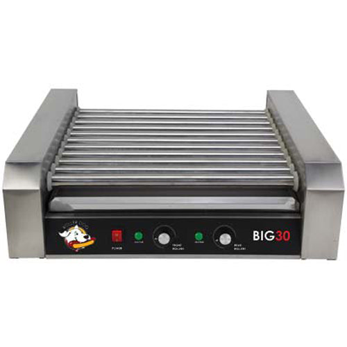 Roller Dog RDB30SS Commercial 30 Hot Dog Roller Grill Cooker Machine