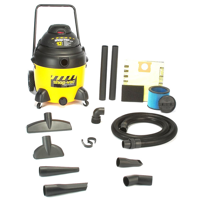ShopVac 9241810 18-Gallon 12-Amp Industrial Switch Reluctance Wet Dry Vacuum