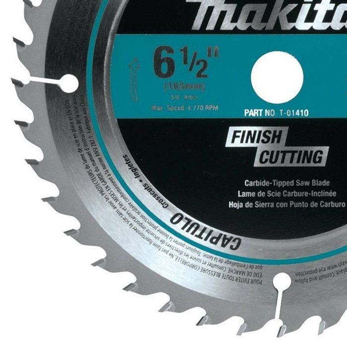 Makita T-01410 6-1/2-Inch 40-Toth Carbide-Tipped Fine Crosscutting Saw Blade