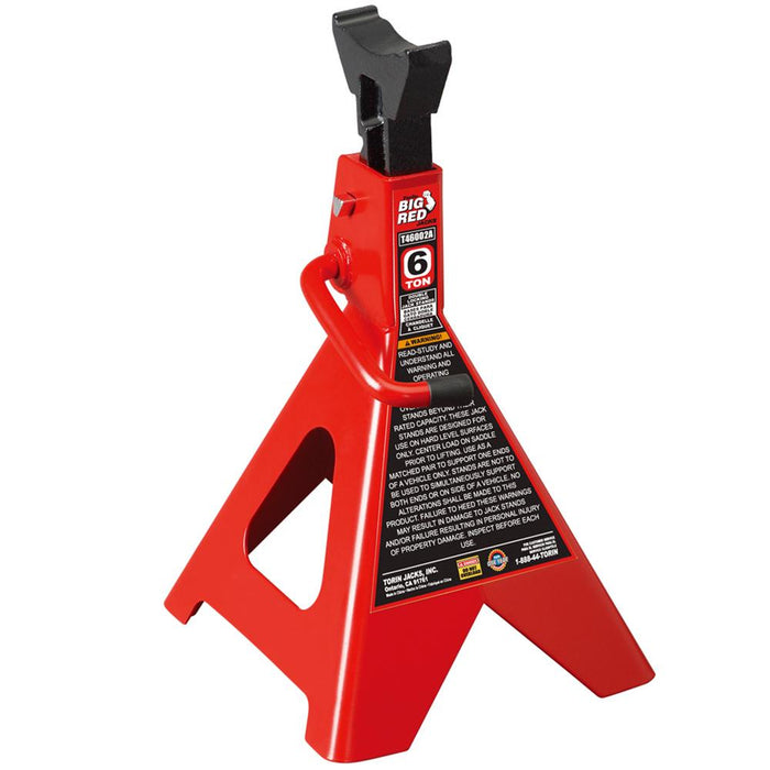 Torin  Big Red T46002A 6-Ton 15-3/4 - 23-7/8-Inch Steel Double Lock Jack Stands
