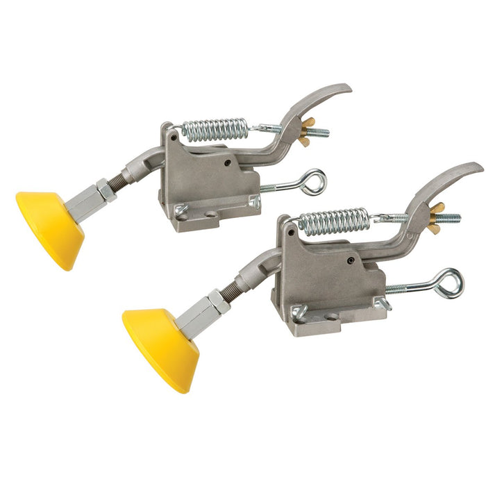 Shop Fox W1104 Yellow Die-Cast Aluminum Non-Marring Board Buddies for Table Saws