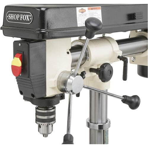 "Shop Fox W1669 1/2 Hp 34"" 5 Speed Benchtop Radial Drill Press w/ Cast Iron Table"