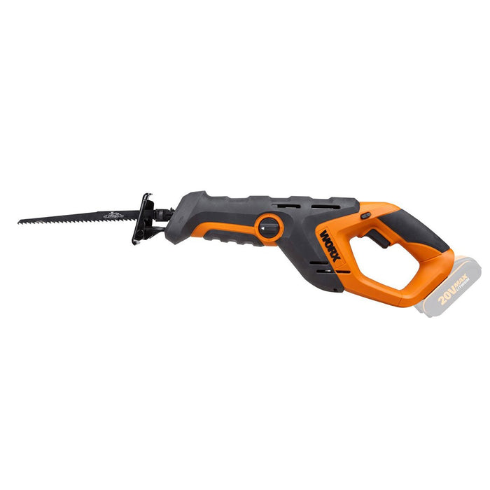 WORX WX508L 20-Volt Lithium-ion Cordless Variable Speed Reciprocating Saw Kit