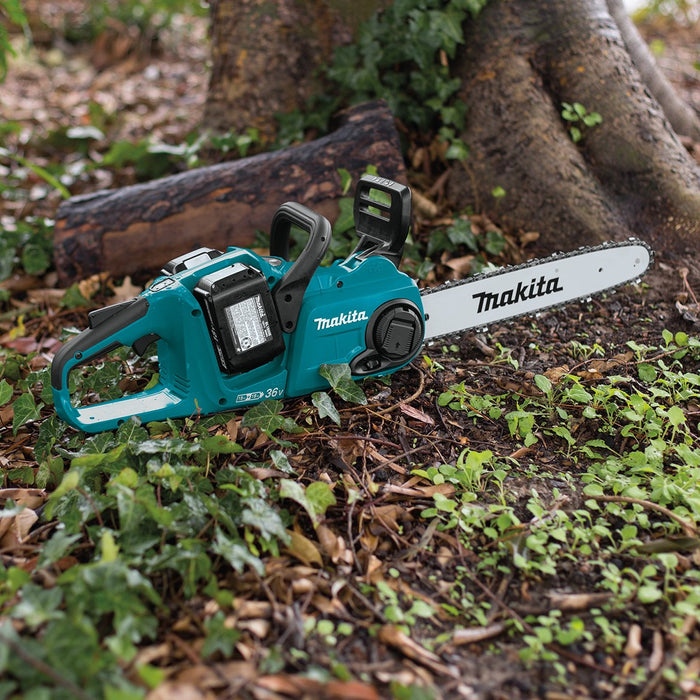 Makita XCU03PTX1 36-Volt 14-Inch LXT Lithium-Ion Chainsaw Kit and Angle Grinder