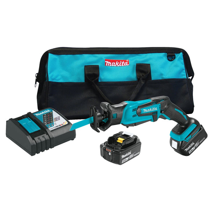 Makita XRJ01T 18-Volt 1/2-Inch 5.0Ah Lithium-Ion Cordless Reciprocating Saw Kit