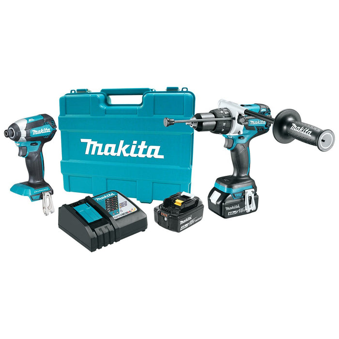 Makita XT267M 18-Volt 4.0 Ah LXT Lithium-Ion Brushless Cordless Combo Kit - 2pc