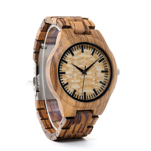 Bamabo - Zebra-Wood Natural Watch