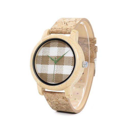 Moga - Bamboo Wood Watch with Cork Strap