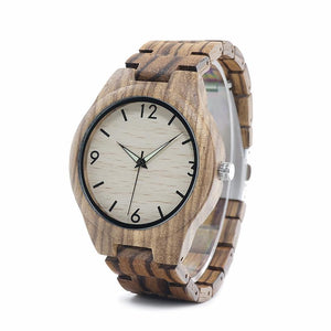 Chunk - A Classic Zebra Wood Watch