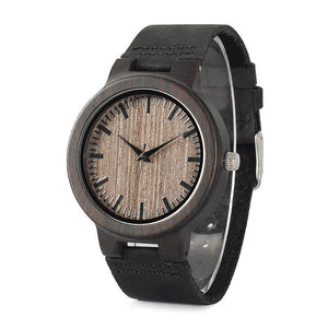 Khaya - Dark Ebony Wood Watch