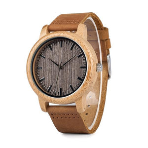 Husk - Bamboo Grainy Wooden Watch