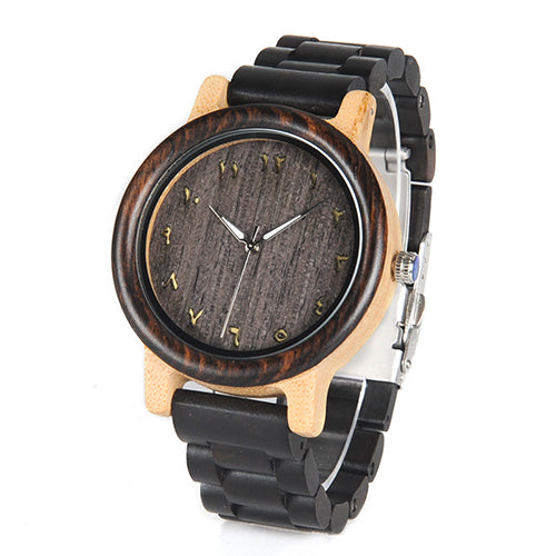 Persian - Two-Tone watch with Ebony and Bamboo