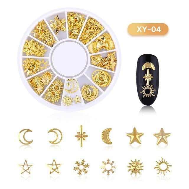 3D Hollow Nail Art Decoration Metal Mixed Shapes - Naily