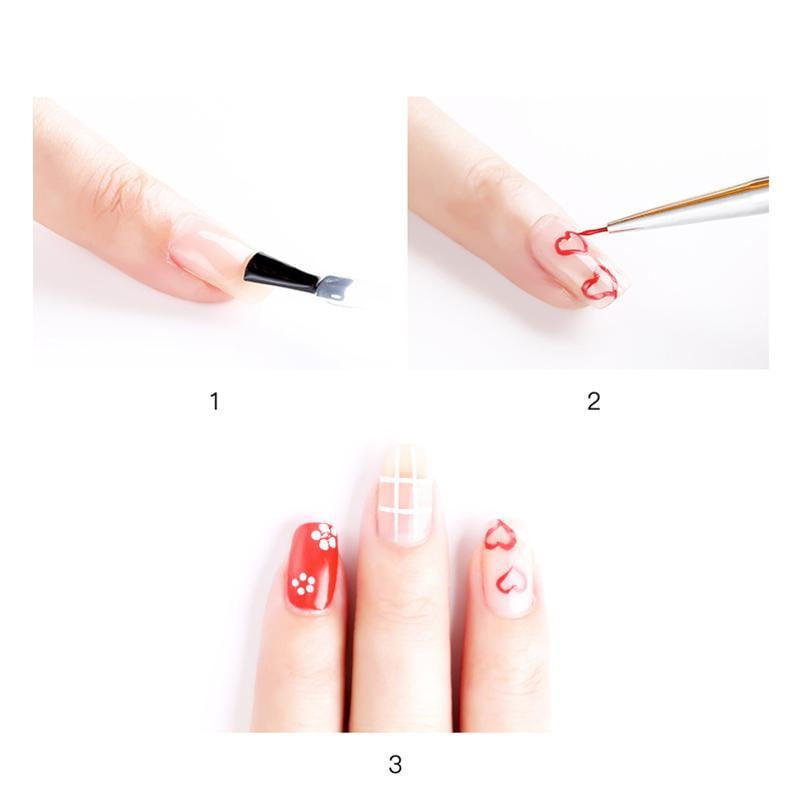 3Pcs/set Kolinsky Nail Art Brush Crystal Acrylic - Naily