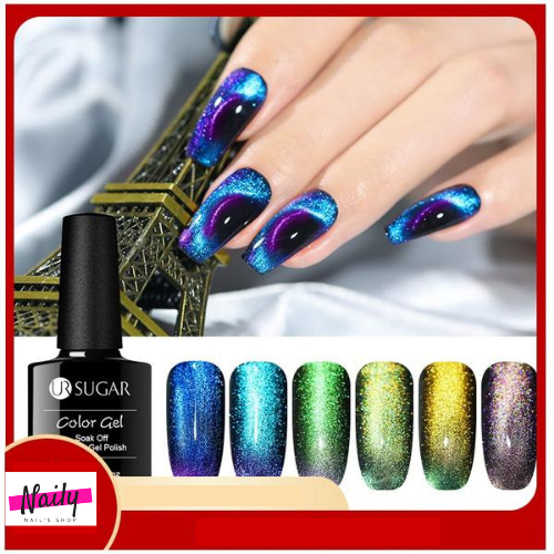UR SUGAR - 9D Cat Eye Nail Gel Polish Chameleon Magnetic-Naily