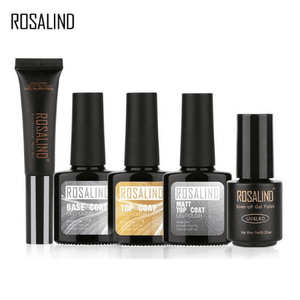 ROSALIND Base & Top Coat - Matt Top Gel Nail Polish Set-Naily