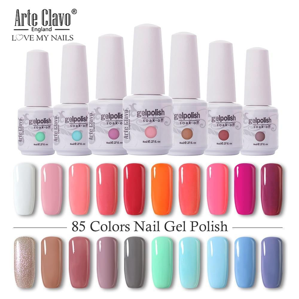Arte Clavo 8ml Nail Polish Nail Gel Soak off - Naily