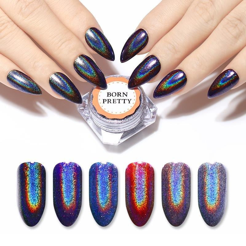 BORN PRETTY - Galaxy Holographic Nail Glitter - Naily