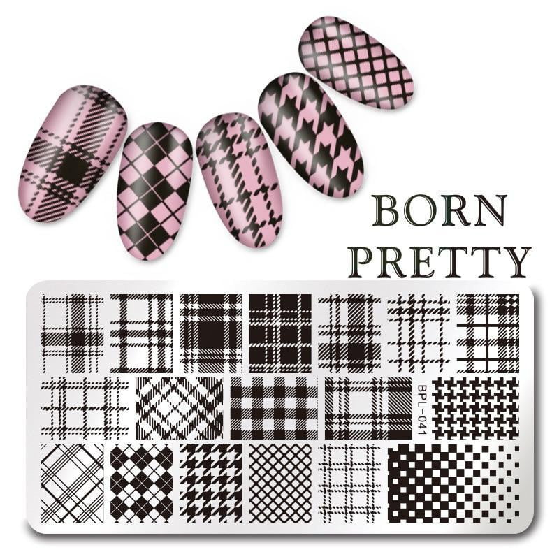 BORN PRETTY - Geometry Rectangle Stamping Template - Naily
