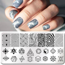 Load image into Gallery viewer, BORN PRETTY - Geometry Rectangle Stamping Template - Naily