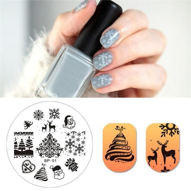 BORN PRETTY - Nail Stamping Template - Naily