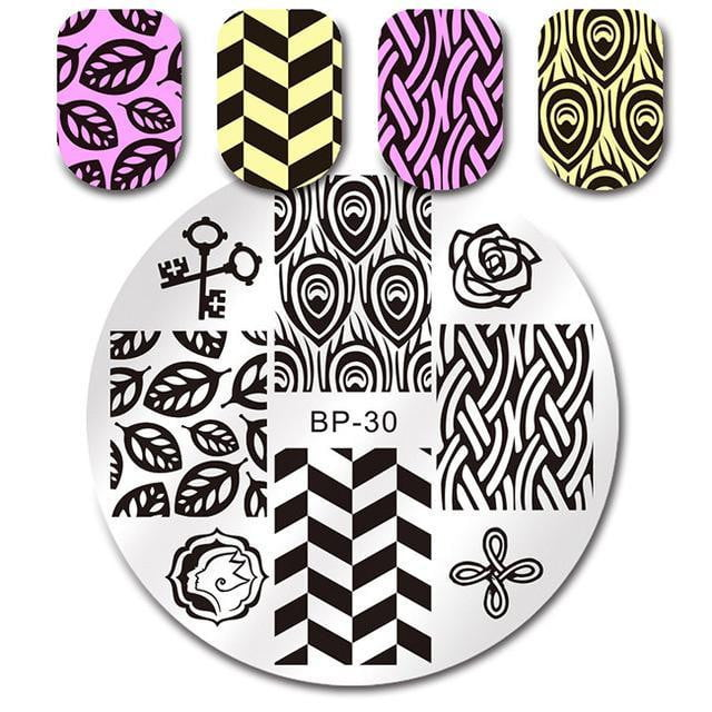 BORN PRETTY - Round Nail Stamping Plate - Naily