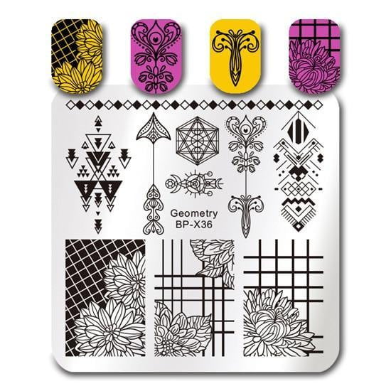 BORN PRETTY - Square Nail Stamping Plates - Naily