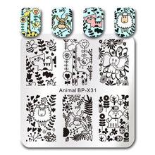 Load image into Gallery viewer, BORN PRETTY - Square Nail Stamping Plates - Naily