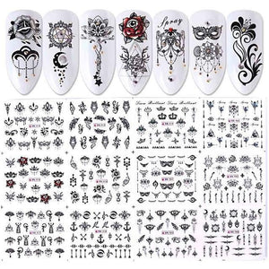 Full Beauty - 12 Designs Water Decals Slider Summer - Naily