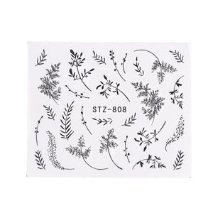 Full Beauty - 1pc Nail Stickers Decal - Naily