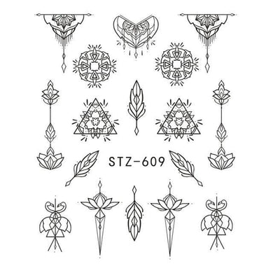 Full Beauty - 1pcs Sticker Hollow Tattoo Decals - Naily