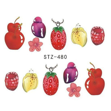 Full Beauty - 1Pcs Summer Fruit Drinking Stickers - Naily