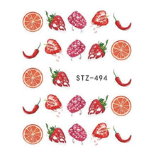 Load image into Gallery viewer, Full Beauty - 1Pcs Summer Fruit Drinking Stickers - Naily