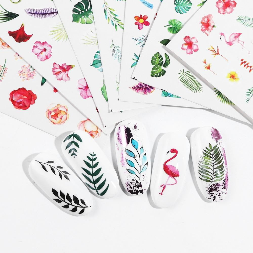 Full Beauty - 29pcs Sticker Nail Polish Flower - Naily