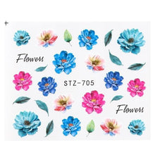 Load image into Gallery viewer, Full Beauty - Nail Art Sticker Flower Cartoon Water - Naily