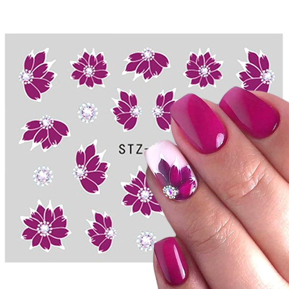 Full Beauty - Nail Art Sticker Flower Cartoon Water - Naily