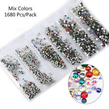 Load image into Gallery viewer, gracefullady - Multi-size Glass Nail Rhinestones - Naily