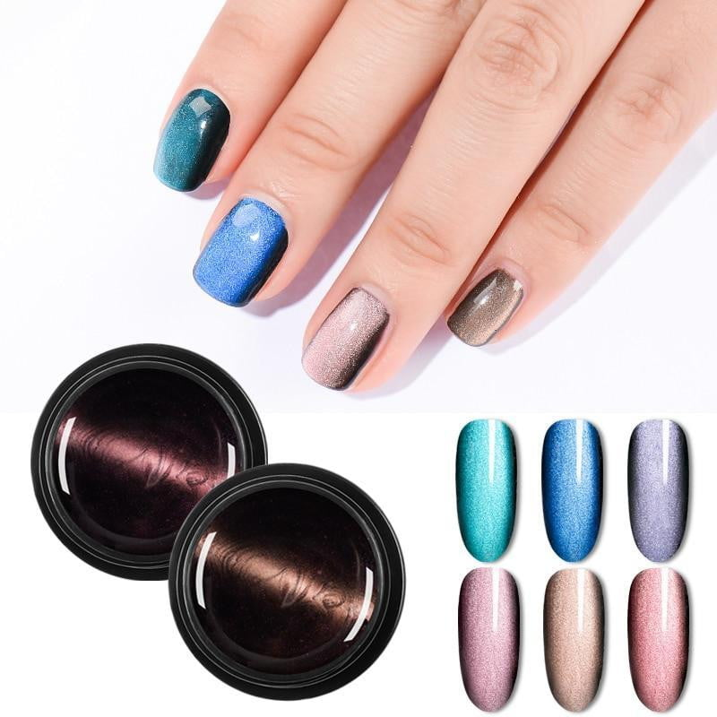 Magnetic 5D Cat Eye UV Gel Nail Polish Magnet Laser - Naily