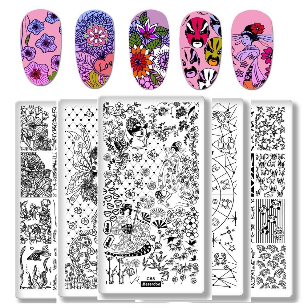 Mezerdoo - Rectangle Stamping Template Fairy Tales - Naily