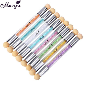 Monja - Double-End Gradient Brush + 6 Sponge - Naily