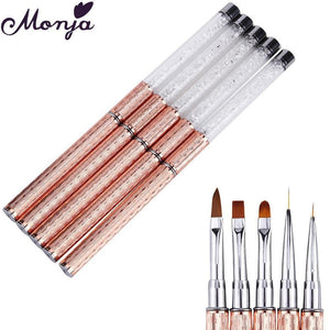 Monja - Metal Acrylic Liquid Powder Carving - Naily