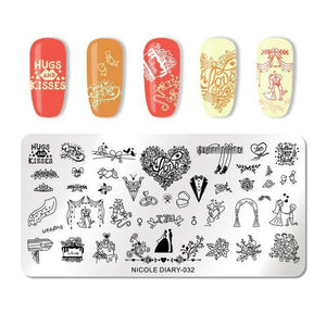 NICOLE DIARY - Nail Stamping Plate - Naily
